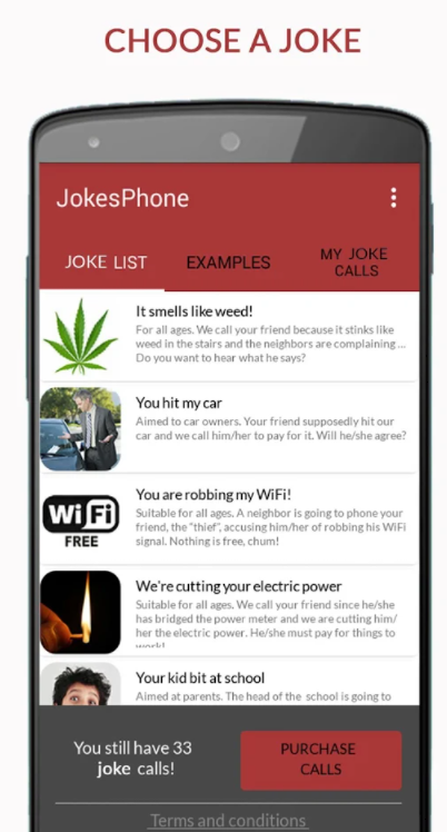 list of pre-made jokes to prank friends during call